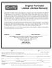 High Performane Downrigger Limited Lifetime Warranty Form