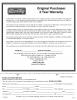Line Puller Warranty Form