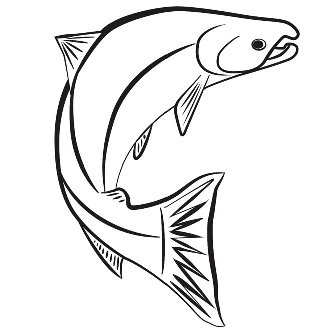 Scotty kid zone for Salmon coloring pages